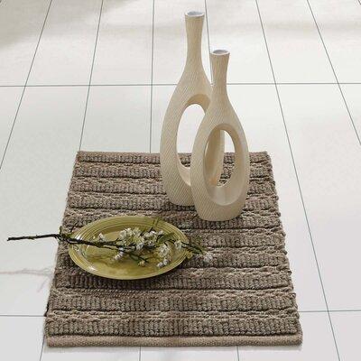 Milton Hand-Woven Silver Area Rug Rug Size: 18 x 26