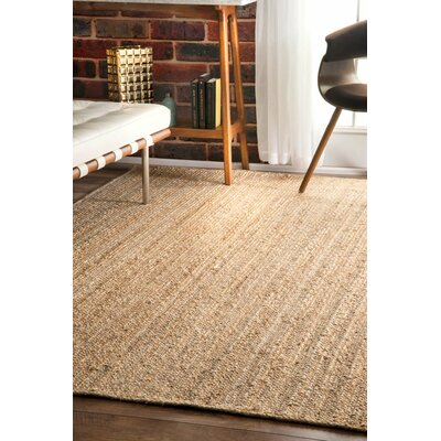 Latham Rigo Jute Hand-Woven Tan Area Rug Rug Size: Rectangle 9' x 12'