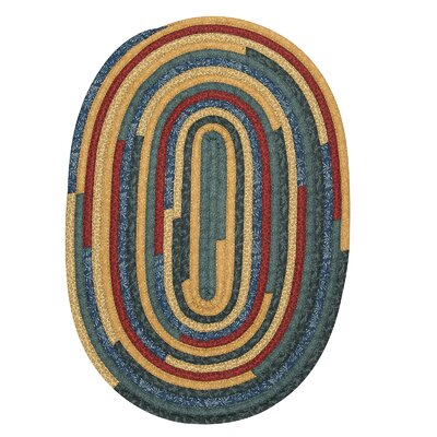 Chapelle Blue Area Rug Rug Size: Oval 3 x 5