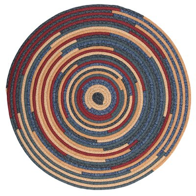 Chapelle Blue Area Rug Rug Size: Round 6