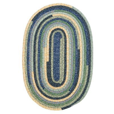 Chapelle Blue Area Rug Rug Size: Oval 10 x 13