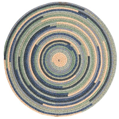 Chapelle Blue Area Rug Rug Size: Round 12