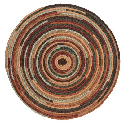 Chapelle Brown Area Rug Rug Size: Round 8
