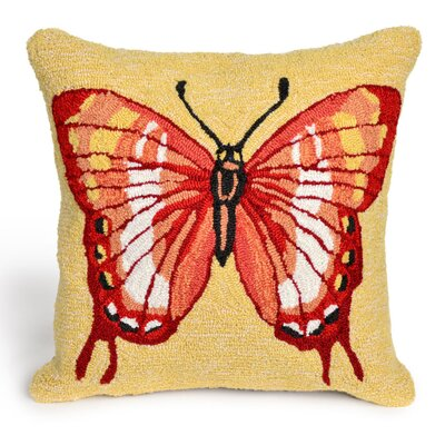 Ismay Butterfly Throw Pillow Size: 24 x 36