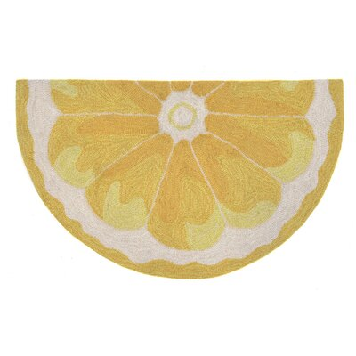 Ismay Hand-Tufted Yellow Indoor/Outdoor Area Rug Rug Size: 2 x 3
