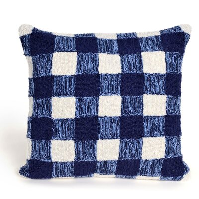 Ismay Gingham Throw Pillow Color: Blue