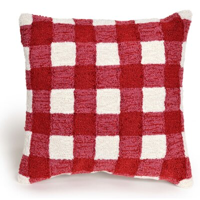 Ismay Gingham Throw Pillow Color: Red