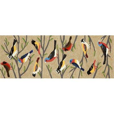 Ismay Birds Neutral Indoor/Outdoor Area Rug Rug Size: Runner 23 x 6