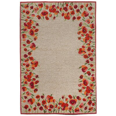 Dazey Hand-Tufted Red Indoor/Outdoor Area Rug Rug Size: 83 x 116