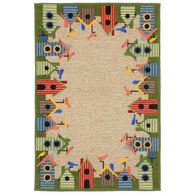 Dazey Hand-Tufted Natural Indoor/Outdoor Area Rug Rug Size: 36 x 56