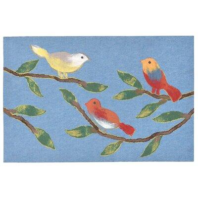 Vanier Chirp Birds Mat Color: New Blue