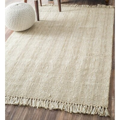Delincourt Boucle Printed Natural Area Rug Rug Size: Runner 26 x 8