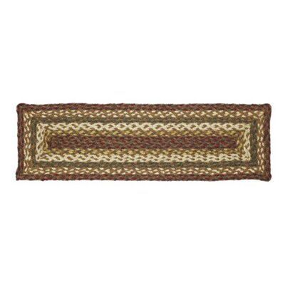 Annabelle Brown/Green Stair Tread Rug Size: Rectangle 8.5x 27
