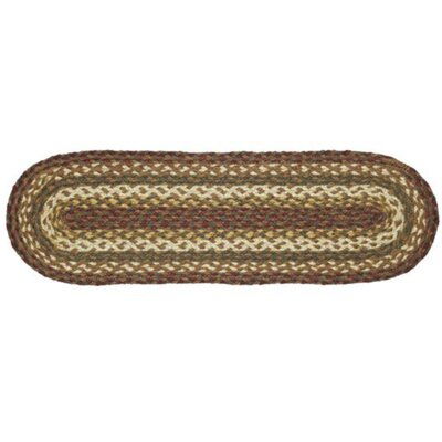 Annabelle Brown/Green Stair Tread Rug Size: Oval 0.7 x 23