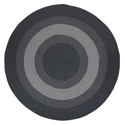 Serafin Charcoal Area Rug Rug Size: Round 8