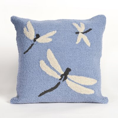Ismay Dragonfly Throw Pillow Color: Blue