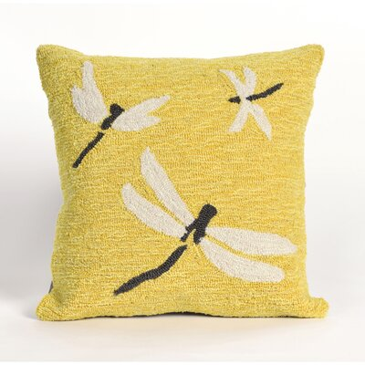 Ismay Dragonfly Throw Pillow Color: Yellow