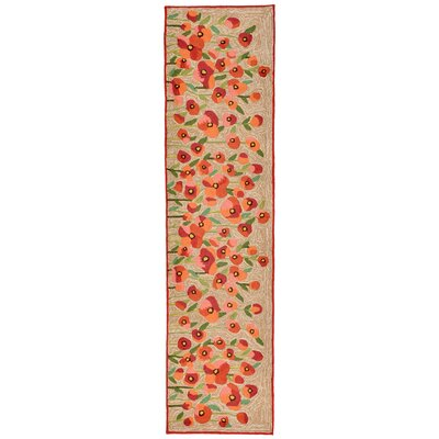 Dazey Hand-Tufted Red Indoor/Outdoor Area Rug Rug Size: 36 x 56