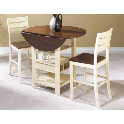 Ephraim 3 Piece Counter Height Bistro Set