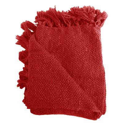 Nova Woven Throw Blanket Color: Red