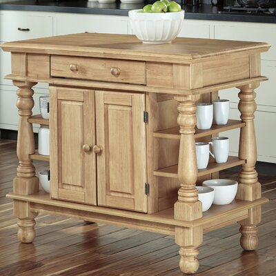Collette Kitchen Island Finish: Maple