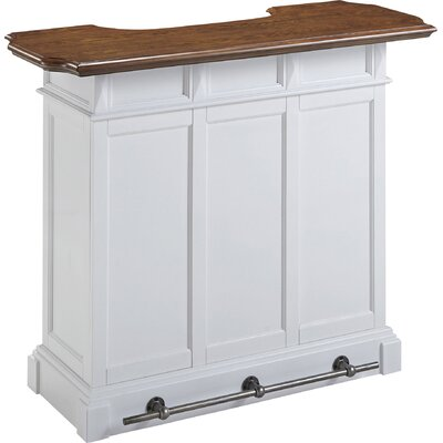 Collette Home Bar Finish: White