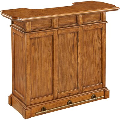 Collette Home Bar Finish: Brown