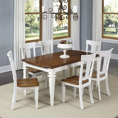 Collette 7 Piece Dining Set Finish: White