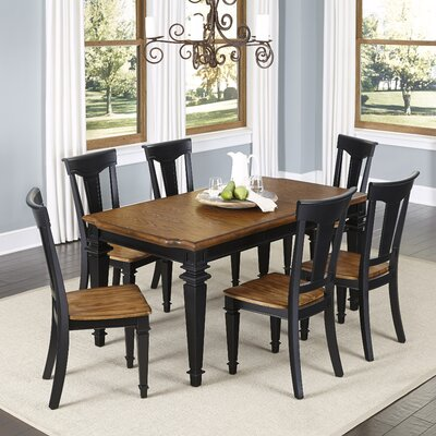 Collette 7 Piece Dining Set Finish: Black