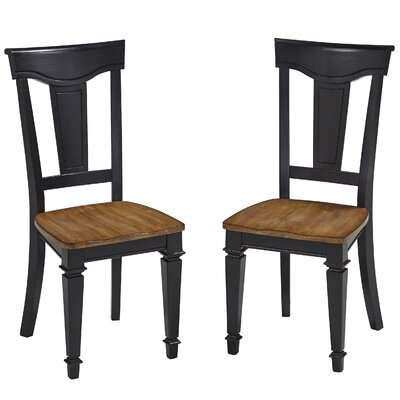 Collette Solid Wood Dining Chair Finish: Black