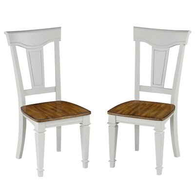 Collette Solid Wood Dining Chair Finish: White