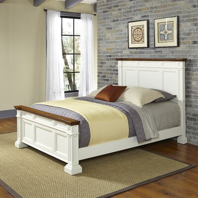 Collette Panel Bed Size: Queen, Finish: White