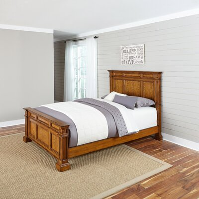 Collette Panel Bed Size: King, Finish: Oak