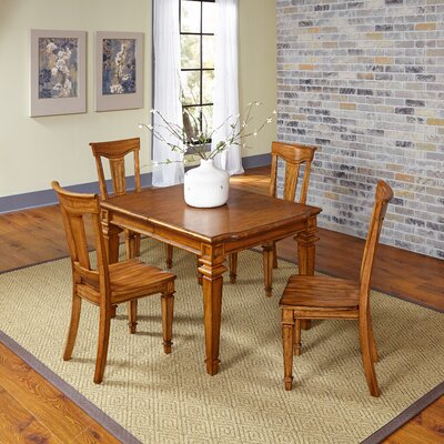 Collette 5 Piece Dining Set Finish: Oak