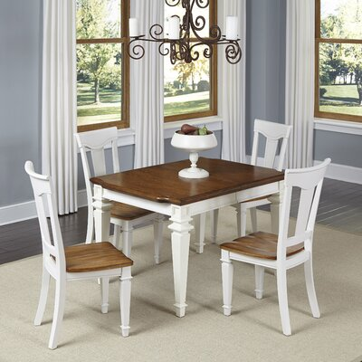 Collette 5 Piece Dining Set Finish: White
