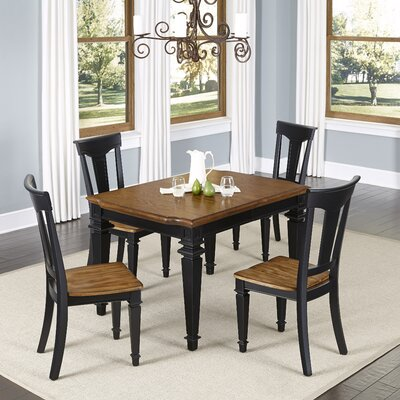 Collette 5 Piece Dining Set Finish: Black