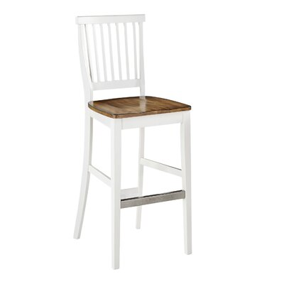 Collette 29 inch Bar Stool Base Finish: White