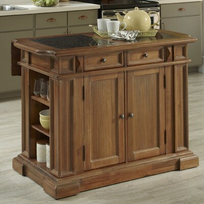 Collette Kitchen Island with Granite Top