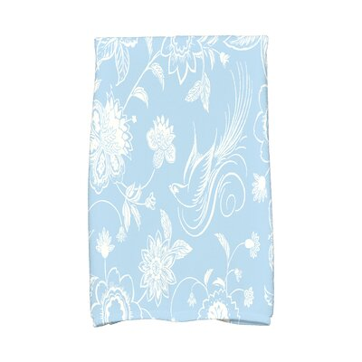Traditional Bird Floral Hand Towel Color: Blue