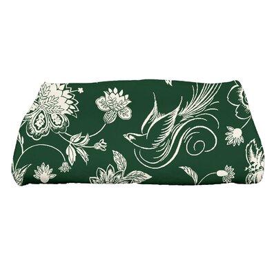 Josiah Traditional Bird Floral Bath Towel Color: Green