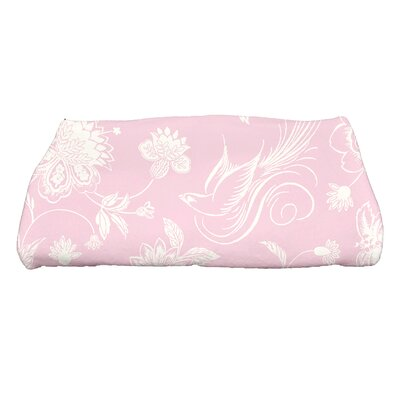 Traditional Bird Floral Bath Towel Color: Pink