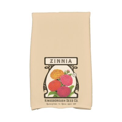 Zinnia Hand Towel Color: Beige/Taupe