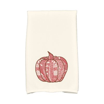 Ames Pumpkin Patch Holiday Print Hand Towel Color: Red