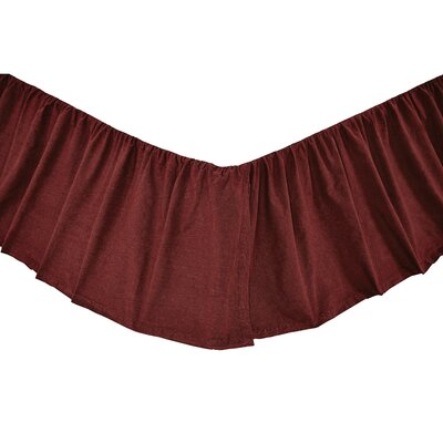 Pitts Bed Skirt Size: King, Color: American Red