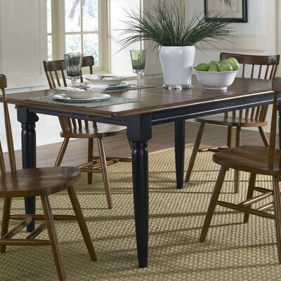 Marni Extendable Dining Table Color: Black and Tobacco
