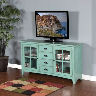 Corine 64 TV Stand Color: Turquoise