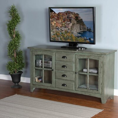 Corine 64 TV Stand Color: Green