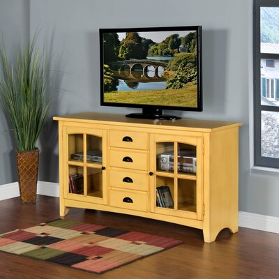 Corine 64 TV Stand Color: Tuscan Yellow
