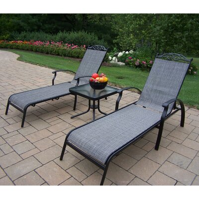 Basile 3 Piece Lounge Seating Set Color: Black