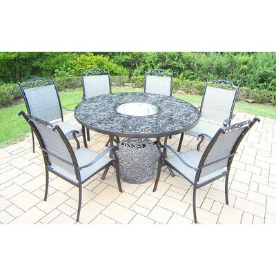 Basile 7 Piece Dining Set Finish: Black